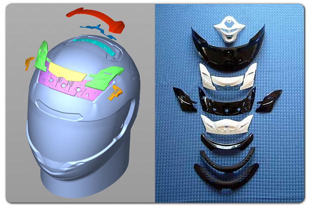 ヘルメット用パーツ